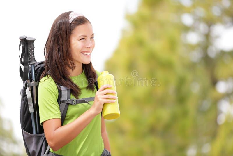 женщина hiker стоковое изображение