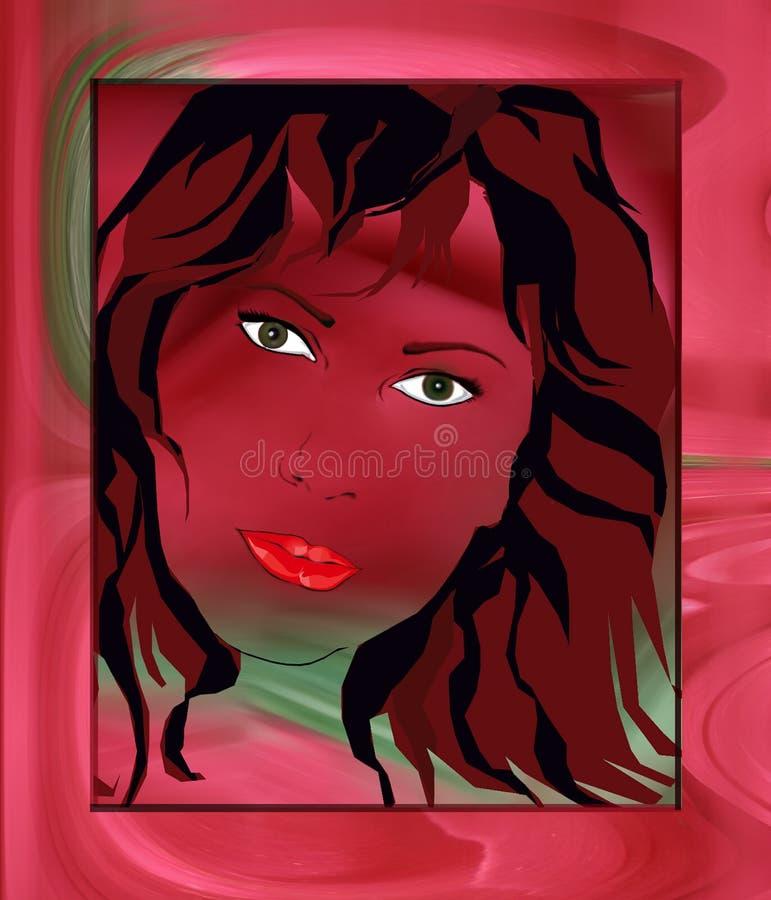Женщина Kaleidoscope стоковые изображения