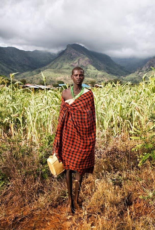 Женщина Karamojong в Moroto в Уганде стоковые изображения