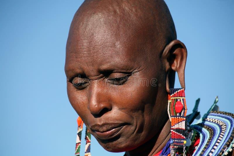 женщина masai Кении стоковое фото rf