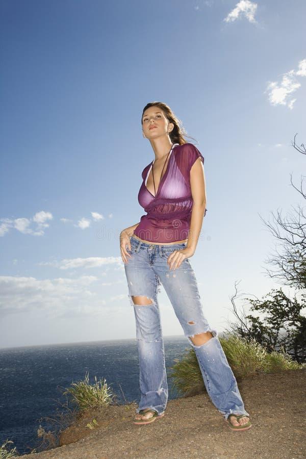 женщина maui свободного полета стоковая фотография rf
