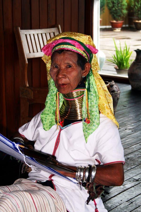 женщина padaung стоковые изображения