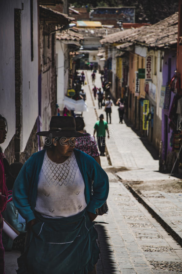 Женщина Pisaq стоковая фотография