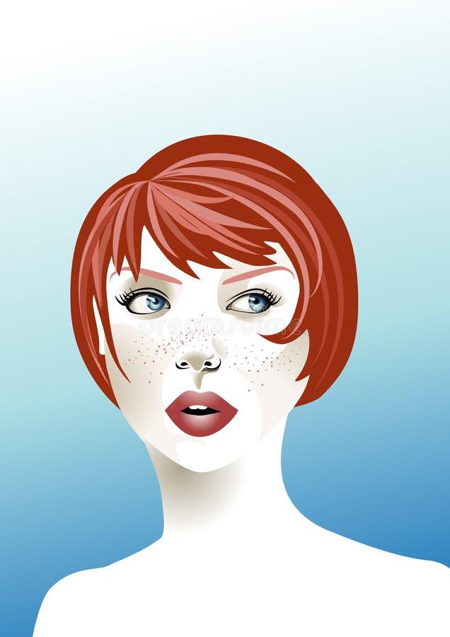 женщина redhead бесплатная иллюстрация