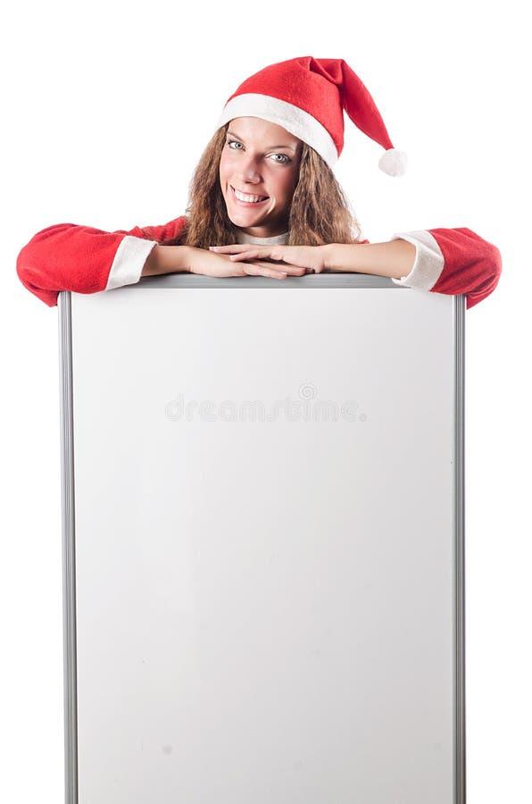 Женщина Santa Claus стоковая фотография rf