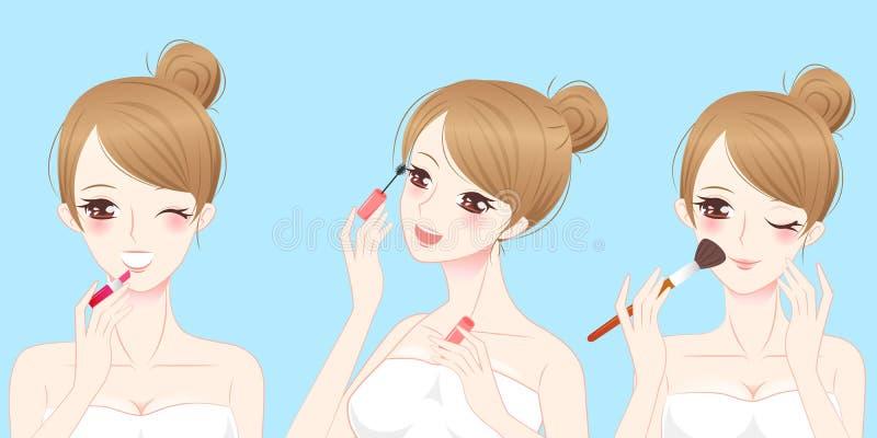 Женщина skincare красоты шаржа бесплатная иллюстрация