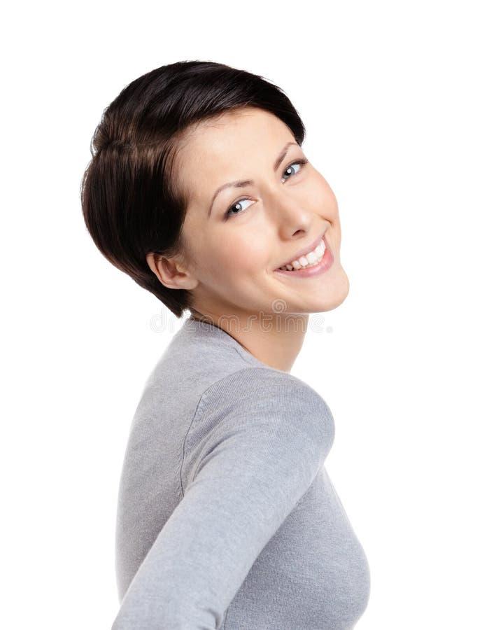Женщина Smiley радостная Стоковые Изображения