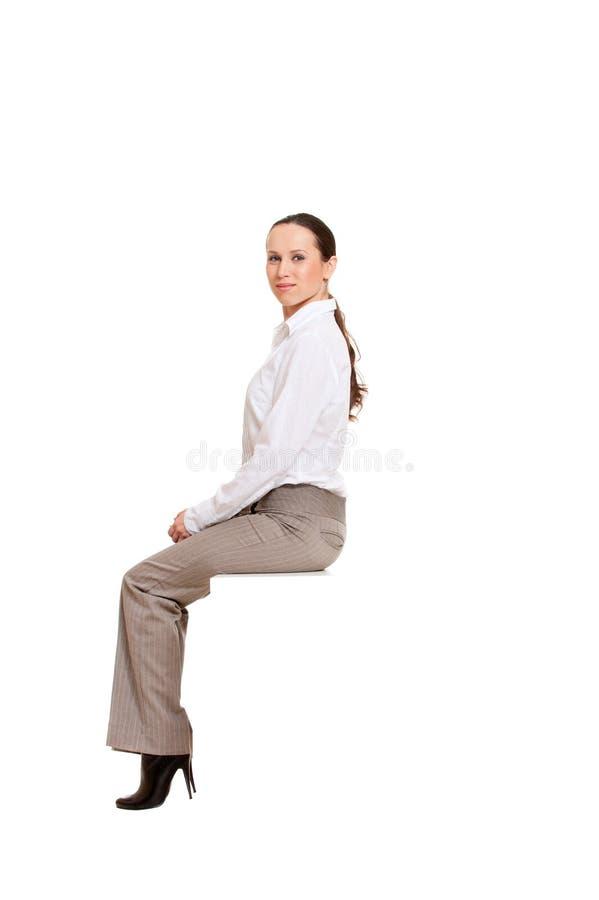 женщина smiley рубашки стоковое изображение