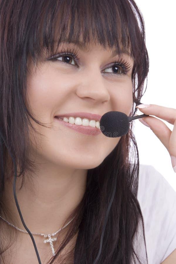 женщина telephonist стоковое изображение