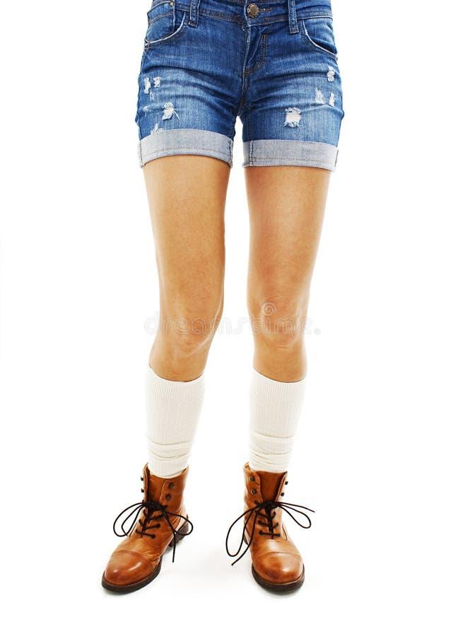 женщина texas краткостей джинсыов стоковые фото