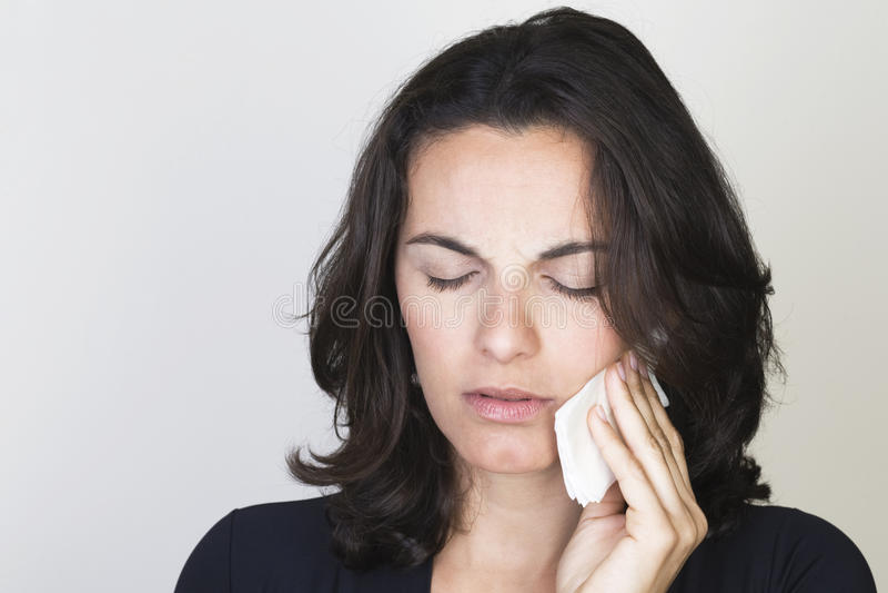 женщина toothache стоковое изображение rf
