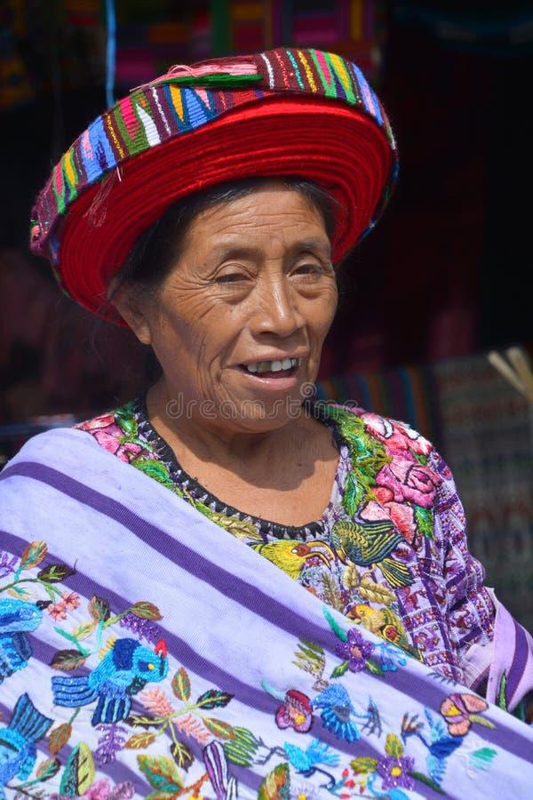 Женщина Tzutujil стоковая фотография