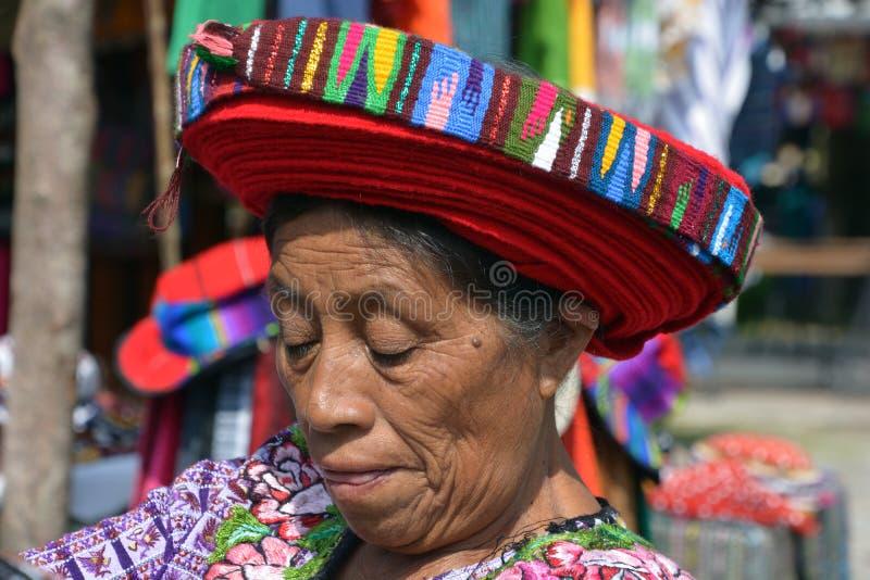 Женщина Tzutujil стоковое фото