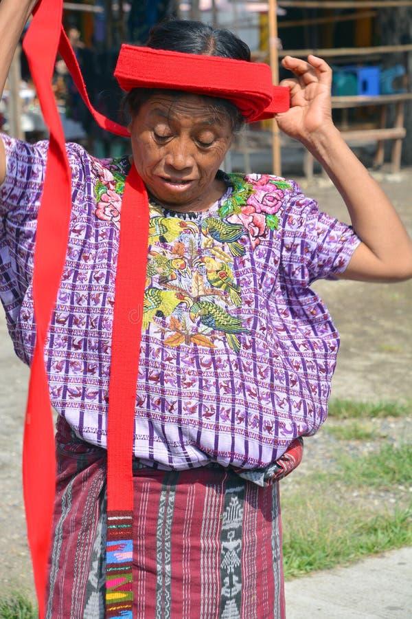 Женщина Tzutujil стоковое изображение