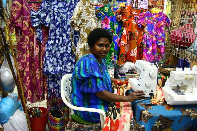 женщины виллы рынка гаван s vanuatu стоковые фотографии rf