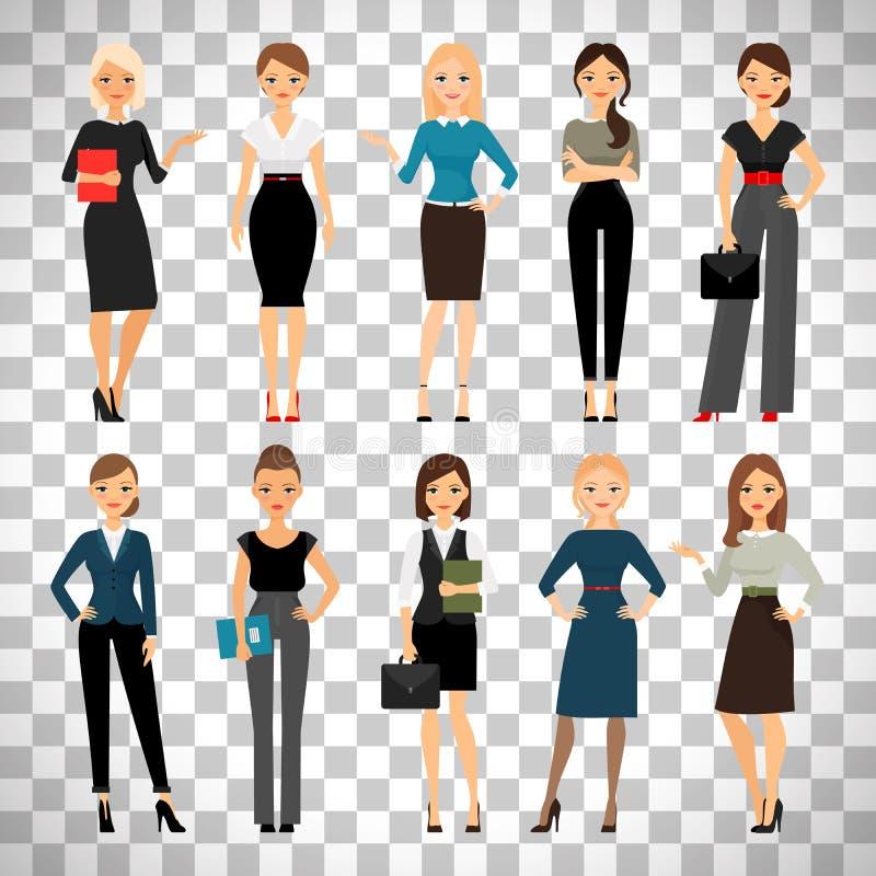 Женщины в одеждах офиса иллюстрация штока