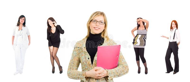 женщины группы дела вскользь одетьнные официально стоковое изображение