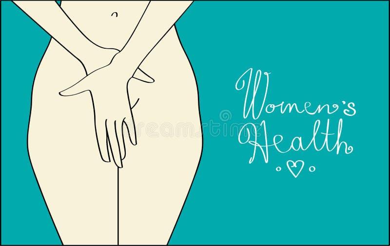женщины здоровья s иллюстрация штока