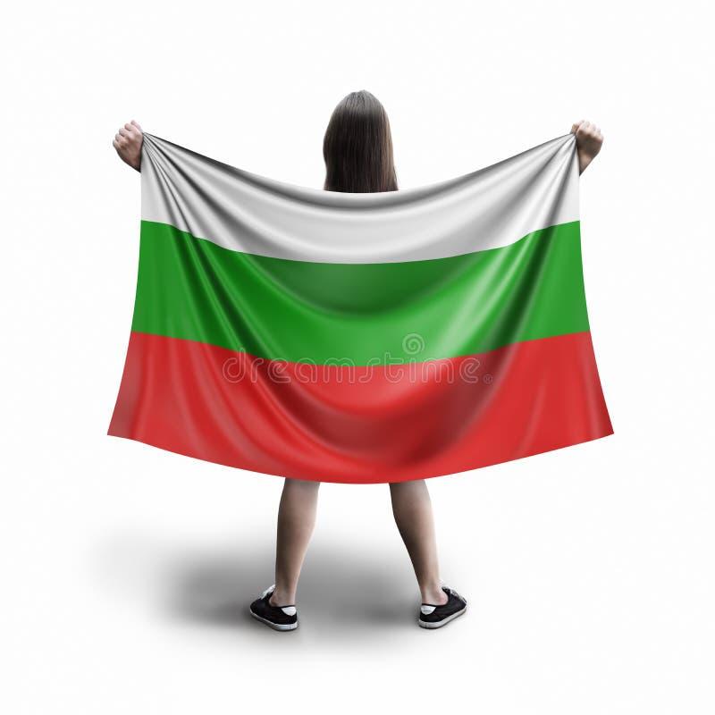 Женщины и болгарский флаг стоковое фото