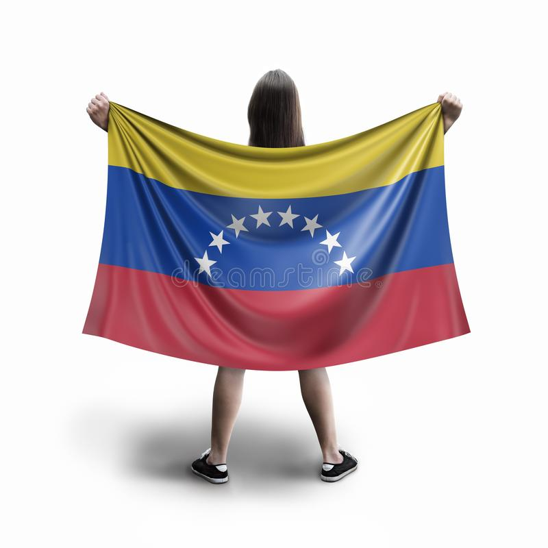 Женщины и венесуэльский флаг стоковые изображения