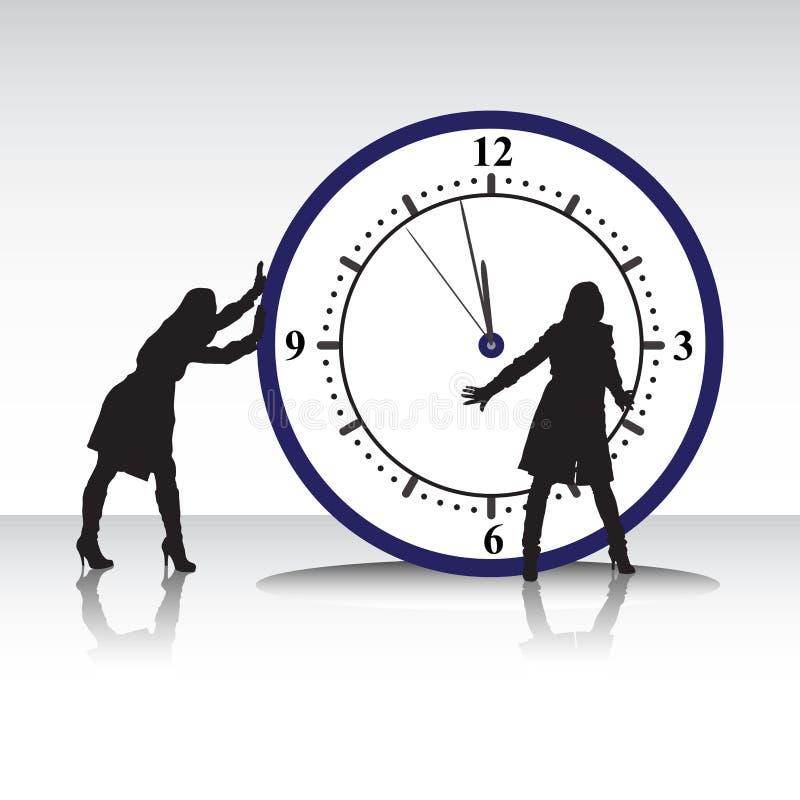 Женщины и время бесплатная иллюстрация