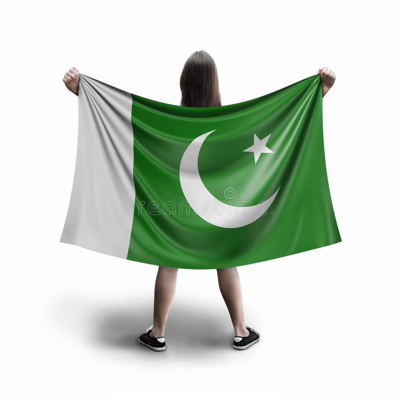 Женщины и пакистанский флаг стоковая фотография rf
