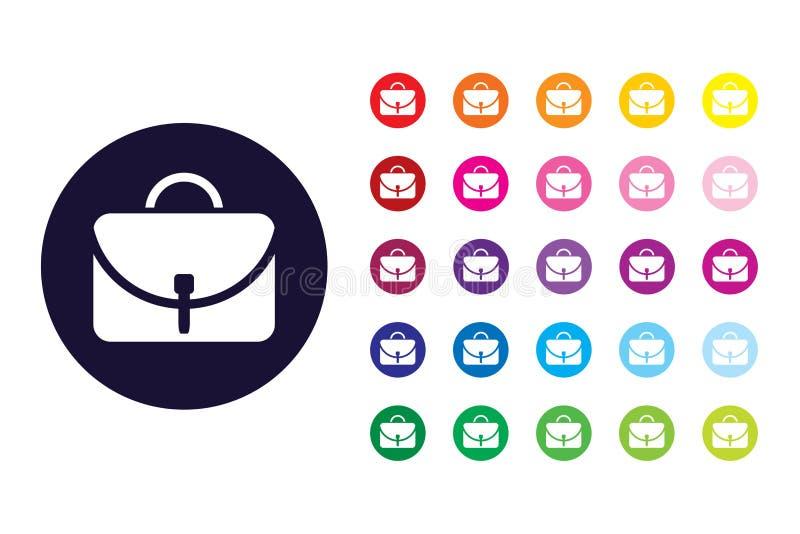 Женщины кладут значок в мешки знака Женщины кладут символ в мешки цвета иллюстрация вектора