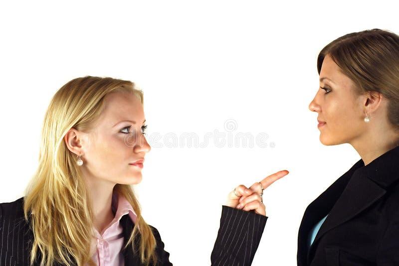 женщины конфронтации стоковое фото