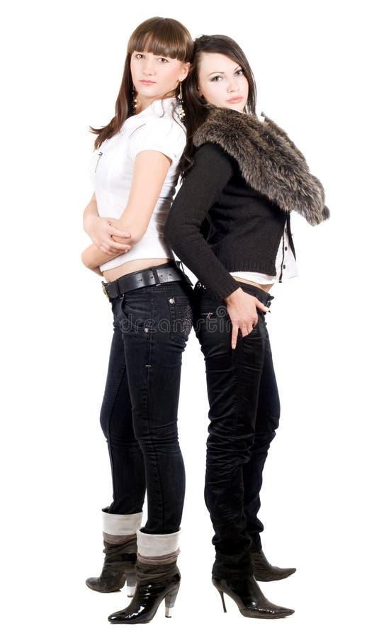женщины красотки 2 молодые стоковые изображения rf