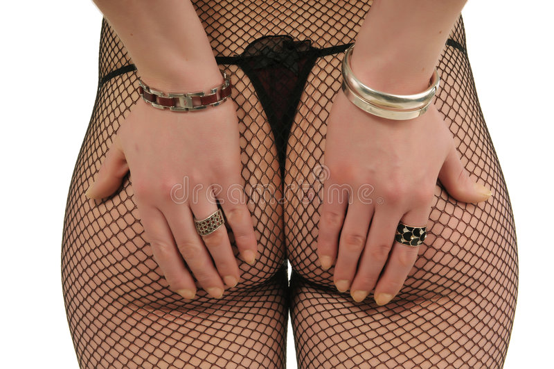 женщины ладоней женское бельё задние Стоковое Изображение RF