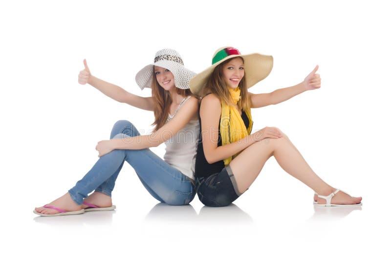Женщины на празднике стоковое фото rf