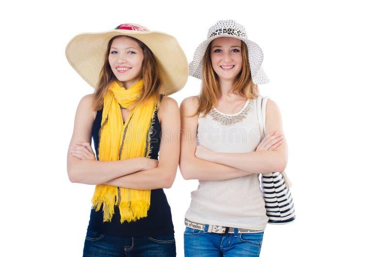 Женщины на празднике стоковые фотографии rf