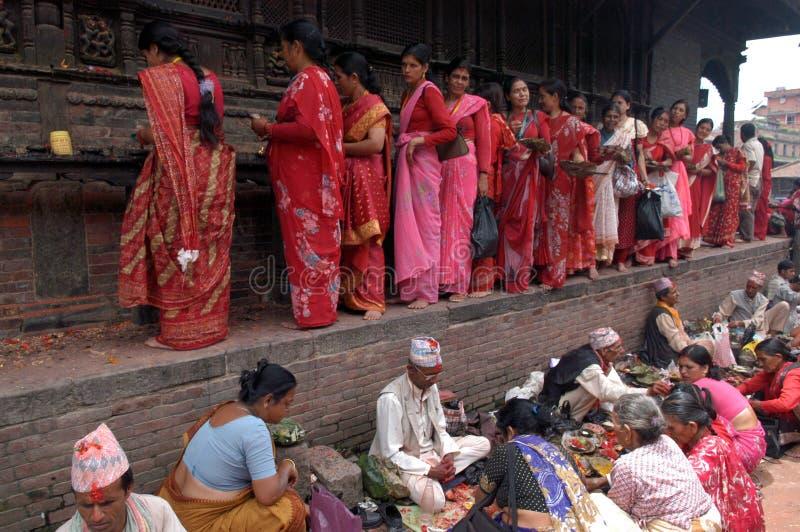 Женщины Непала Bhaktapur непальца стоковое фото rf