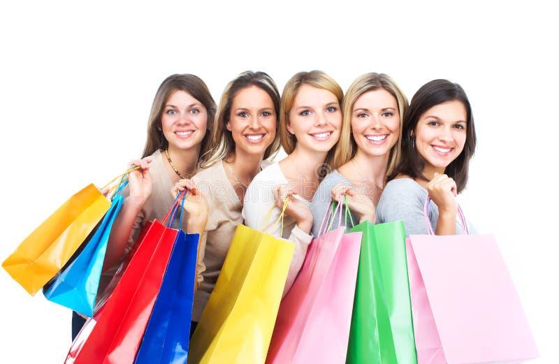 Женщины покупок стоковые фото