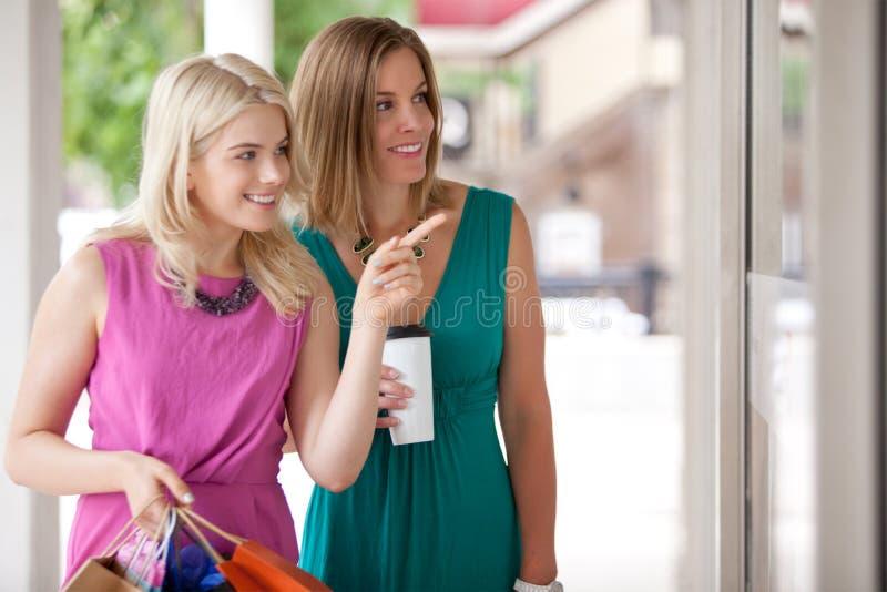 Женщины покупок стоковое фото