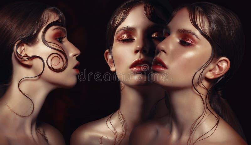женщины портрета 3 стоковые фотографии rf