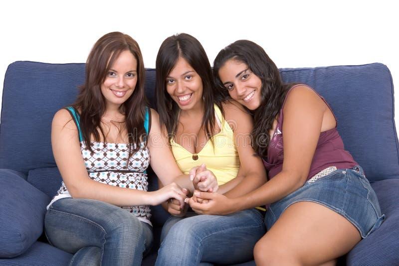 женщины приятельства молодые стоковое изображение