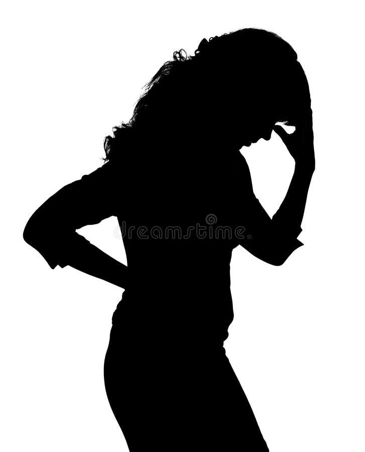 женщины проблем s стоковое фото