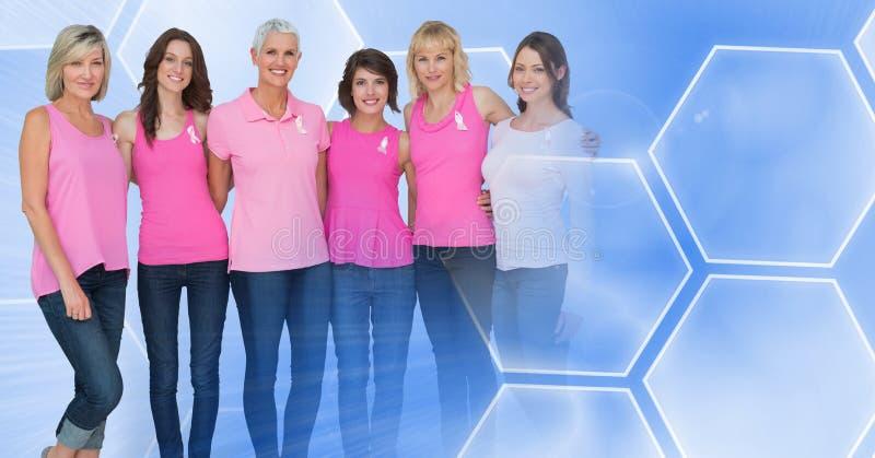 Женщины рака молочной железы с переходом стоковое фото rf