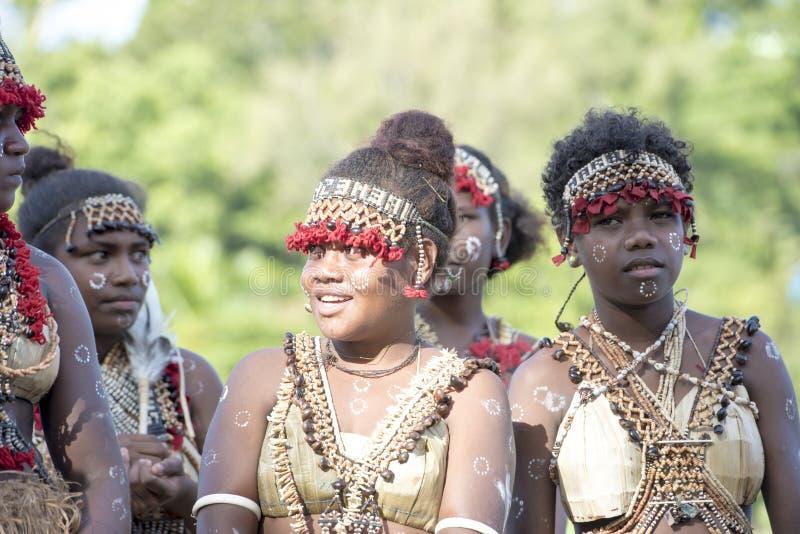 Женщины Соломоновы Острова стоковое фото