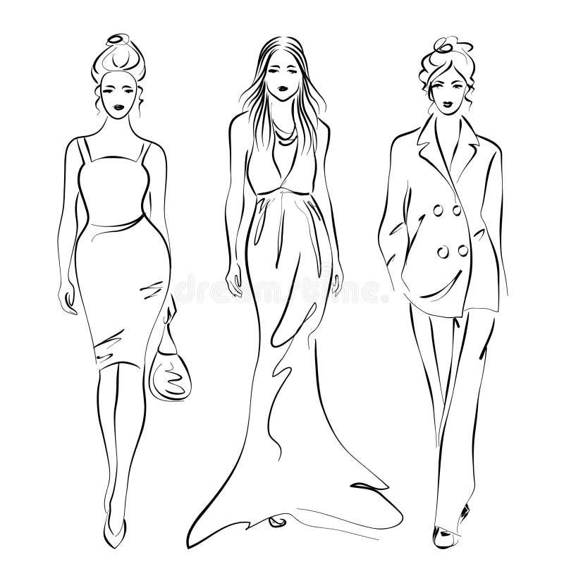 женщины способа иллюстрация штока