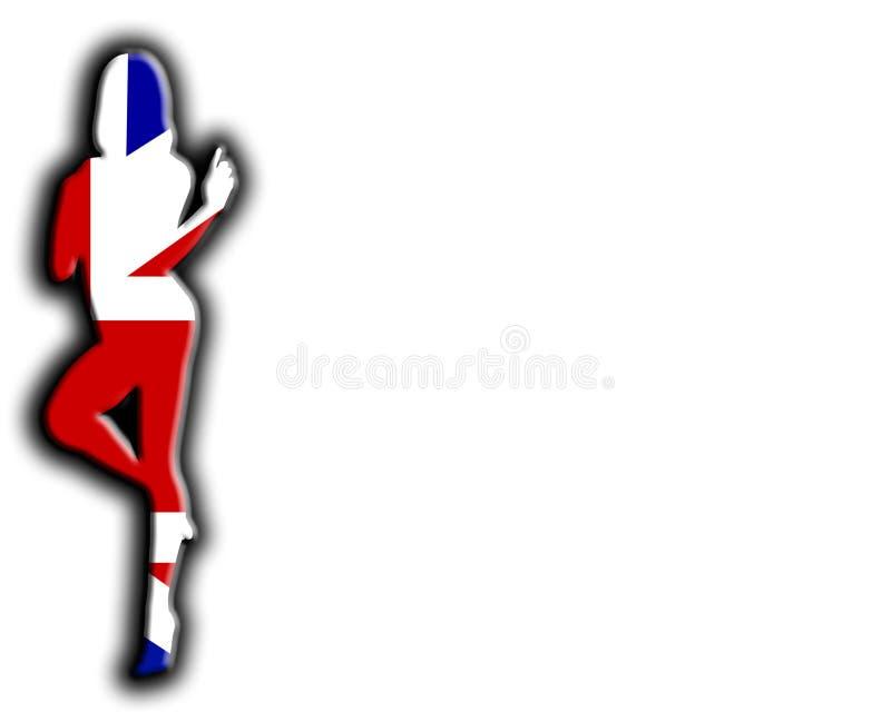 Женщины флага Великобритании сексуальные иллюстрация вектора