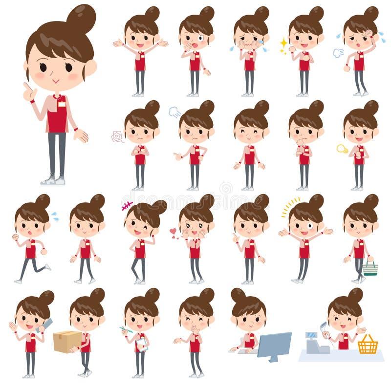 Женщины форм ночного магазина красные бесплатная иллюстрация