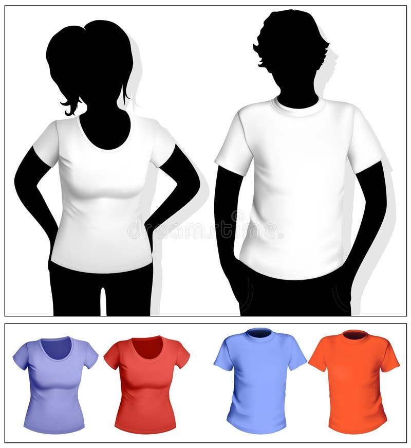 женщины шаблона рубашки t людей s бесплатная иллюстрация