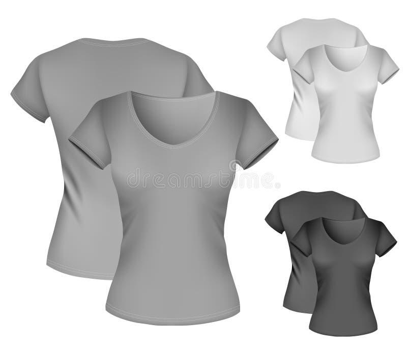 женщины шаблона рубашки t s иллюстрация штока