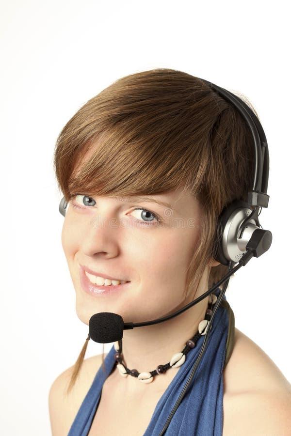 женщины шлемофона стоковое фото
