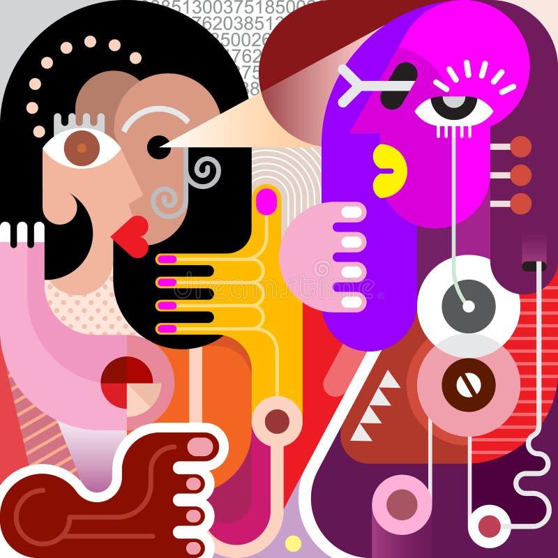 2 женщины иллюстрация штока