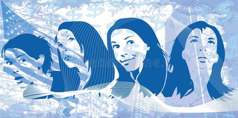 Женщины Grunge стоковые изображения rf