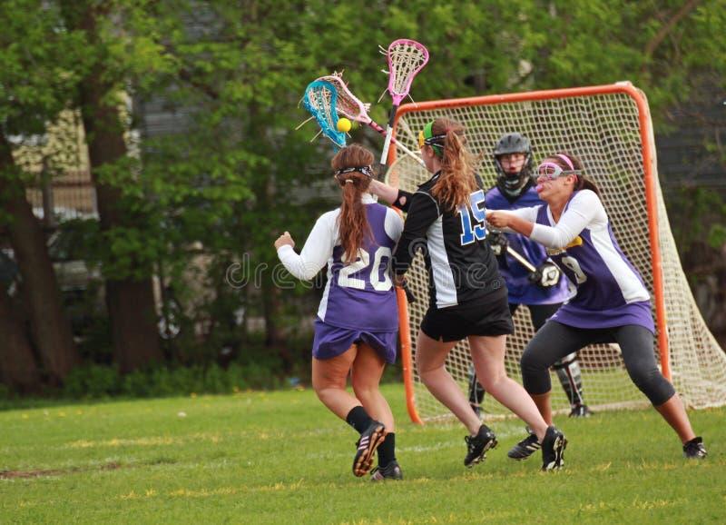 женщины lacrosse стоковые изображения