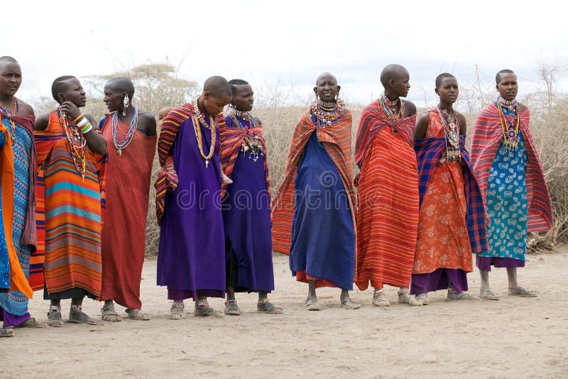 женщины masai стоковая фотография rf